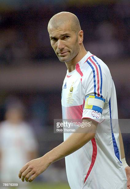 Sport Football FIFA World Cup Final Berlin 9th July 2006 Italy 1 v France 1 Italy won 53 on Penalties France captain Zinedine Zidane who in his last...