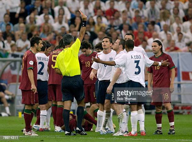 Sport Football FIFA World Cup Gelsenkirchen 1st July 2006 Quarter Final England 0 v Portugal 0 Portugal won 3 1 on Penalties after Extra Time England...