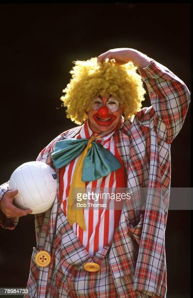 September 1989 Paul Gascoigne the Tottenham Hotspur and England star dressed up as a laughing clown
