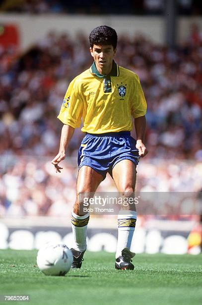 Sport Football International Friendly 17th May 1992 Wembley London England 1 v Brazil 1 Bebeto Brazil