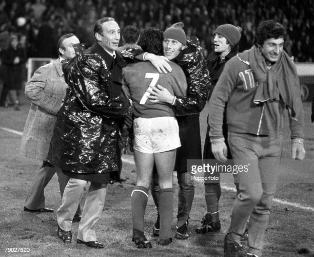 Sport Football International Friendly Wembley London England 14th November 1973 England 0 v Italy 1 Bobby Moore's last game for England Italy...