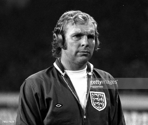 Sport Football International Friendly Wembley London England 14th November 1973 England 0 v Italy 1 Bobby Moore's last game for England The England...