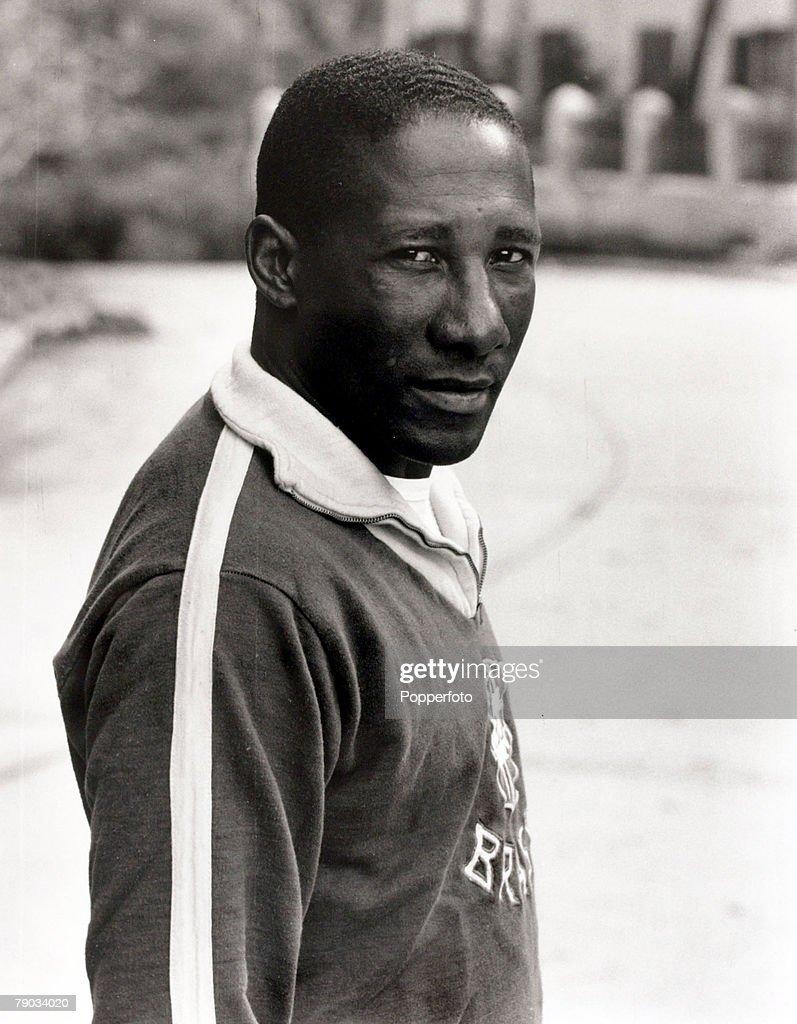 Sport Football January 1966 Brazil star Djalma Santos a