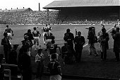 Sport Football League Division One Old Trafford England 22nd August 1964 Manchester United 2 v West Bromwich Albion 2 The players emerge from the...