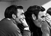 Sport Football League Division One Selhurst Park London England 18th November 1972 Crystal Palace 2 v Leeds United 2 Leeds United Manager Don Revie...