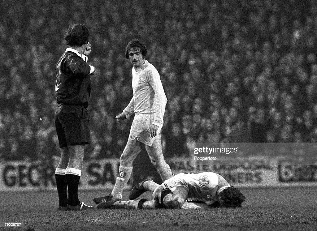 Sport Football League Division One Selhurst Park London England 18th November 1972 Crystal Palace 2 v Leeds United 2 Leeds United's Norman Hunter is...