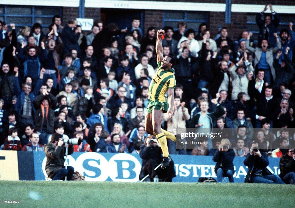 Sport Football League Division One St Andrews England 31st October 1981 Birmingham City 3 v West Bromwich Albion 3 West Bromwich Albion's Cyrille...