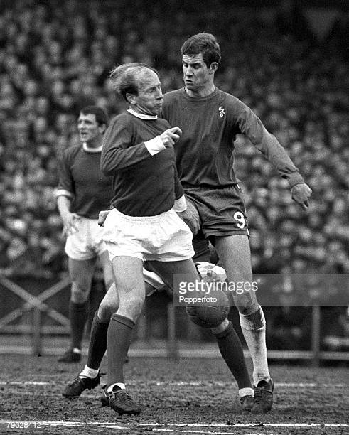 Sport Football League Division One Stamford Bridge London England 13th March 1966 Chelsea 2 v Manchester United 0 Manchester United's Bobby Charlton...