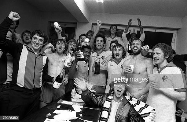 Sport Football League Division Three Vicarage Road England 15th May 1979 Watford 4 v Hull City 0 Watford Manager Graham Taylor and Chairman Elton...