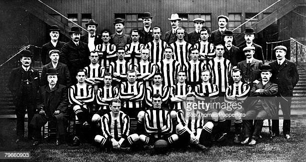 Sport Football Newcastle United FC Team Group J Carr J Lawrence and A McCombie J BellVice Chairman C Veitch A Higgins W Appleyard R Orr J Soye HTW...