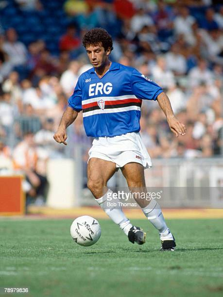 11th August 1990 The Makita Tournament at Wembley Sampdoria 1 v Arsenal 0 Gianluca Vialli Sampdoria 19841992 Gianluca Vialli won 59 Italy...