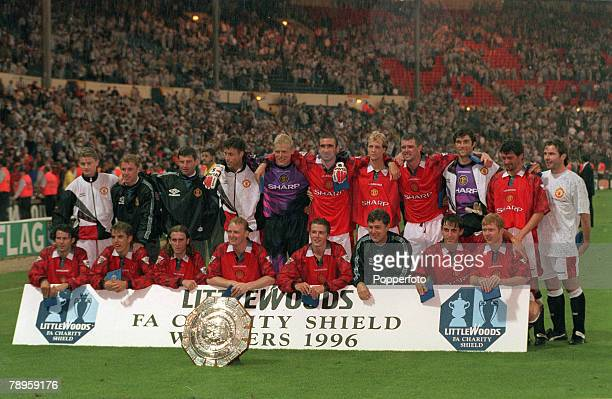 11th August 1996 FA Charity Shield at Wembley Manchester United 4 v Newcastle United 0 Manchester United Back row left right Ole Gunnar Solskjaer...