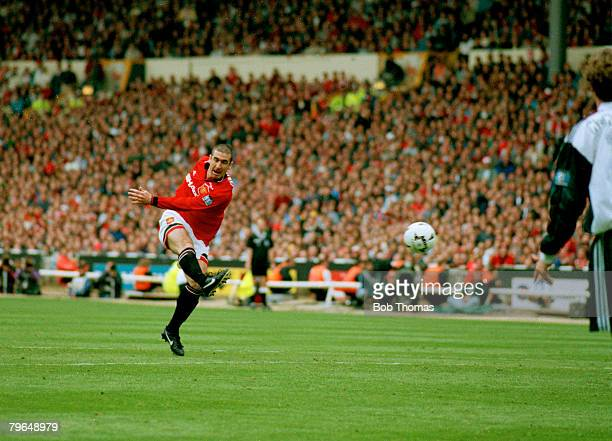 11th May 1996 FA Cup Final at Wembley Liverpool 0 v Manchester United 1 Manchester United's Eric Cantona scores the winning goal