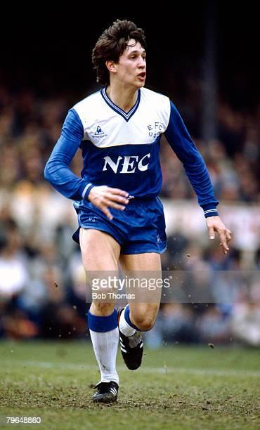 12th April 1986 Division 1 Arsenal 0 v Everton 1 Gary Lineker Everton Gary Lineker won 80 England international caps between 19841992