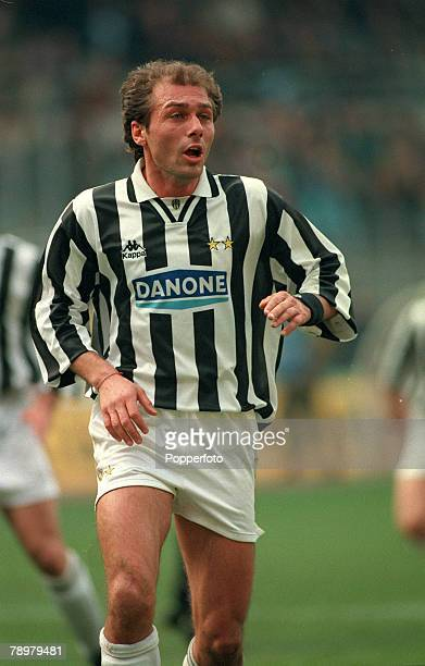 12th March 1995 Italian League Serie A Juventusv Foggia Antonio Conte Juventus and Italian international who played in the 1994 World Cup for Italy