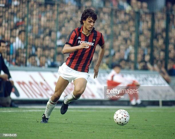 12th October 1986 Italian League Paolo Maldini AC Milan