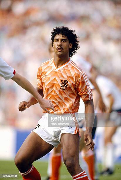 15th June 1988 European Championship Dusseldorf Holland 3 v England 1Frank Rijkaard Holland who was to win 73 Holland international caps