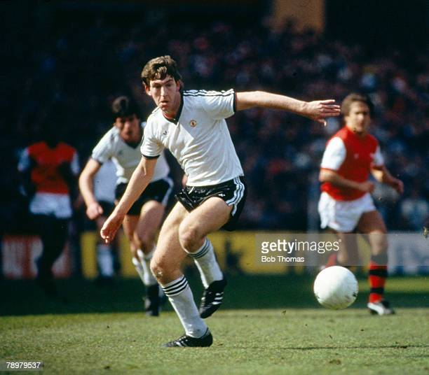 16th April 1983 FA Cup SemiFinal at Villa Park Manchester United 2 v Arsenal Manchester United's Norman Whiteside on the ball Norman Whiteside also...