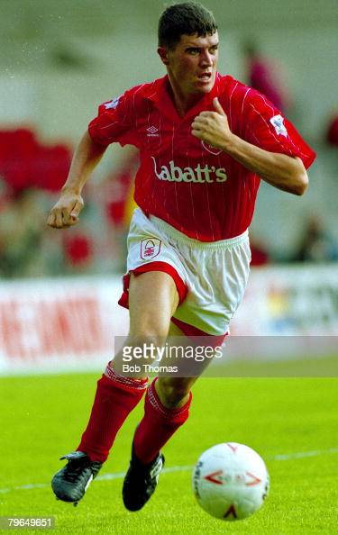 16th August 1992 Premier League Nottingham Forest 1 v Liverpool 0 Roy Keane Nottingham Forest