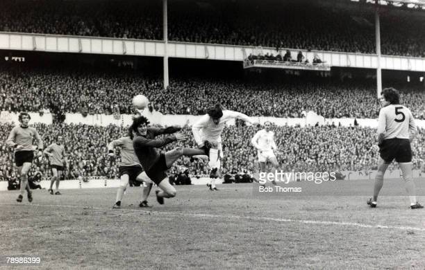 17th May 1972 UEFACup Final 2nd Leg at White Hart Lane Tottenham Hotspur beat Wolverhampton Wanderers 32 on aggregate Tottenham Hotspur's Alan...