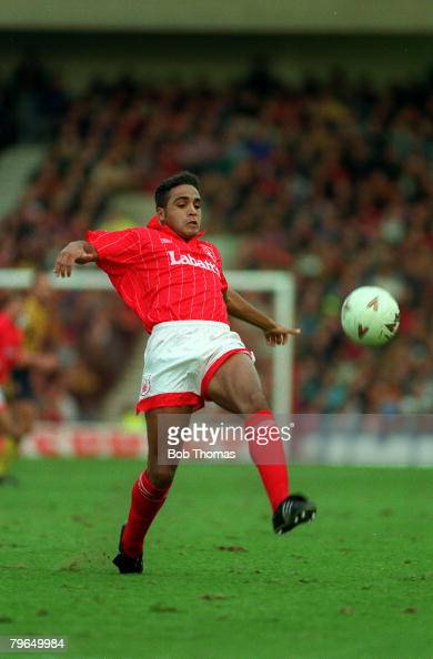 17th October 1992 FAPremier League Nottingham Forest 0 v Arsenal 1 Gary Charles Nottingham Forest