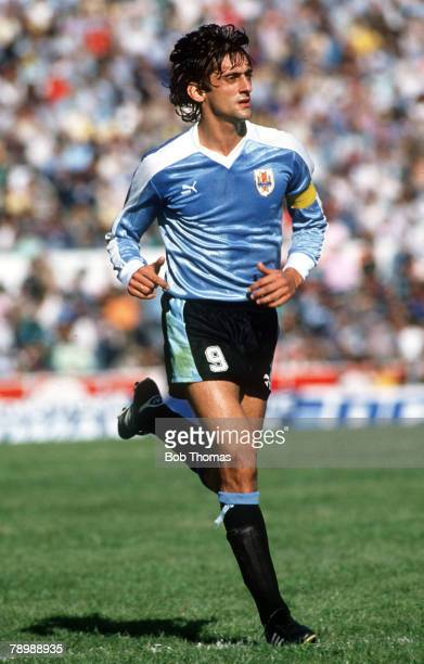 17th September 1989 World Cup Qualifier in Montevideo Enzo Francescoli Uruguay