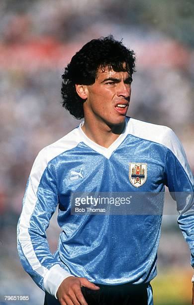 17th September 1989 World Cup Qualifier Montevideo Uruguay 2 v Bolivia 0 Pablo Bengoechea Uruguay