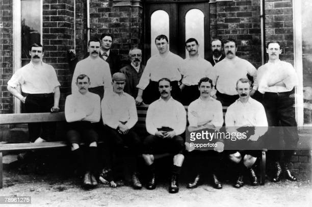 1889 Preston North End the 1889 English FA Cup winners who beat Wanderers 30 at Kennington Oval Preston Back rowlr G Drummond RHowarth RHanbury MP...
