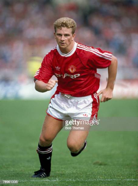 18th August 1990FA Charity Shield at WembleyLiverpool 1 v Manchester United 1 Mark Robins Manchester United striker 19881992