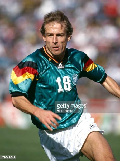18th December 1993 Friendly International in Palo Alto USA 0 v Germany 3 Germany's Jurgen Klinsmann races away Jurgen Klinsman won 108 caps for...