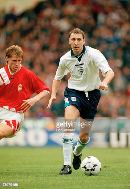 18th May 1996 Friendly International at Wembley England 3 v Hungary 0 Jason Wilcox England who won 3 England international caps between 19962000