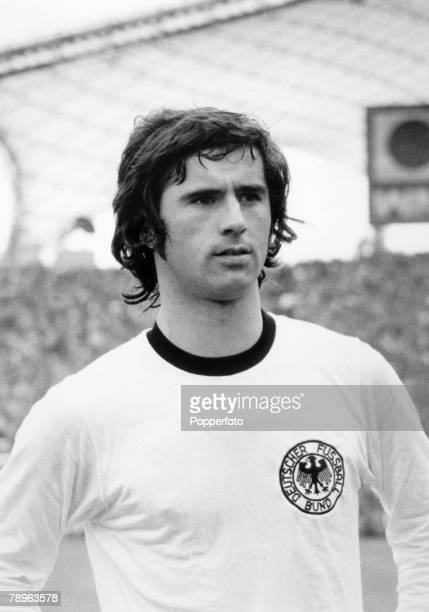 1974 1974 World Cup Finals in Germany West Germany striker Gerd Muller pictured in the Olympic Stadium Munich Gerd Muller scored the winning goal in...