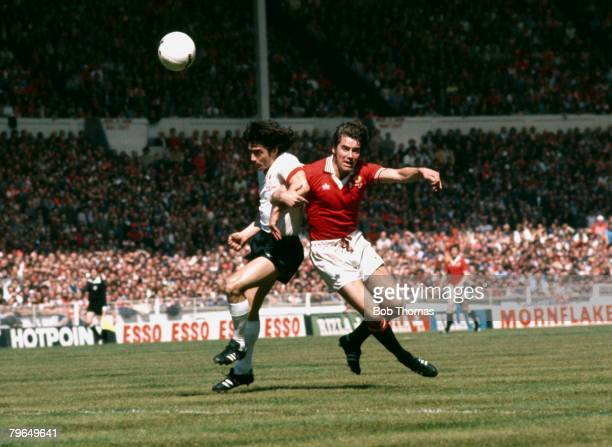 1977 FA Cup Final at Wembley Manchester United 2 v Livepool 1 Liverpool's Kevin Keegan left clashes with Manchester United's Martin Buchan