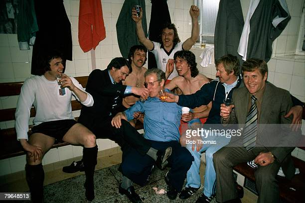 1978 FACup SemiFinal Ipswich Town 3 v West Bromwich Albion 1 Ipswich Town Manager Bobby Robson players and staff celebrate their victory