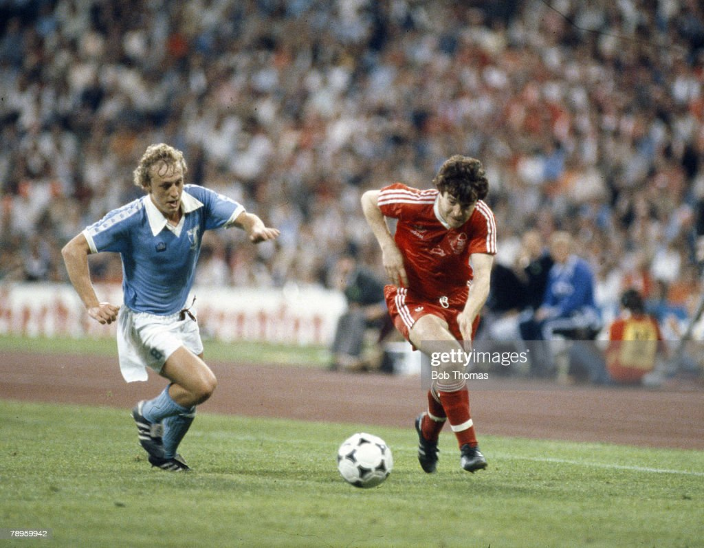 1979 1979 European Cup Final in Munich Nottingham Forest 1 v Malmo 0 Nottingham Forest's John Robertson is chased by Malmo's Robert Prytz