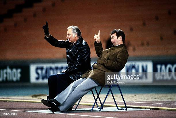 1979 European Cup SemiFinal in Cologne FCColgne v Nottingham Forest Nottingham Forest managerial partnership Brian Clough and his assistant Peter...