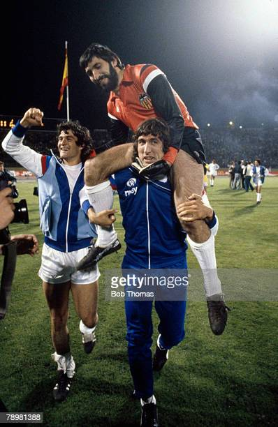 1980 European Cup Winners Cup Final in Brussels Valencia beat Arsenal 54 on penalties Valencia goalkeeper Carlos Santiago Pereira who saved the vital...