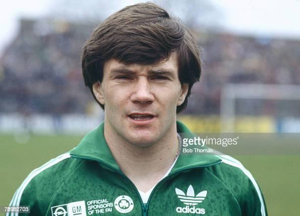 1980's Liam Brady Republic of Ireland one of the great players for the Republic of Ireland who won 73 international caps between 19861998