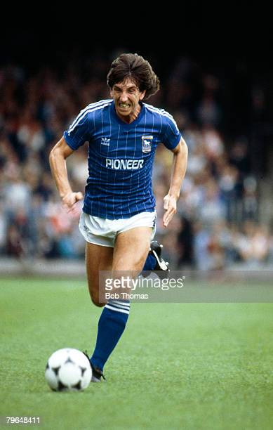 1983 Division 1 Ipswich Town v Stoke City Ipswich Town striker Paul Mariner races away Paul Mariner won 35 England international caps between 19771985