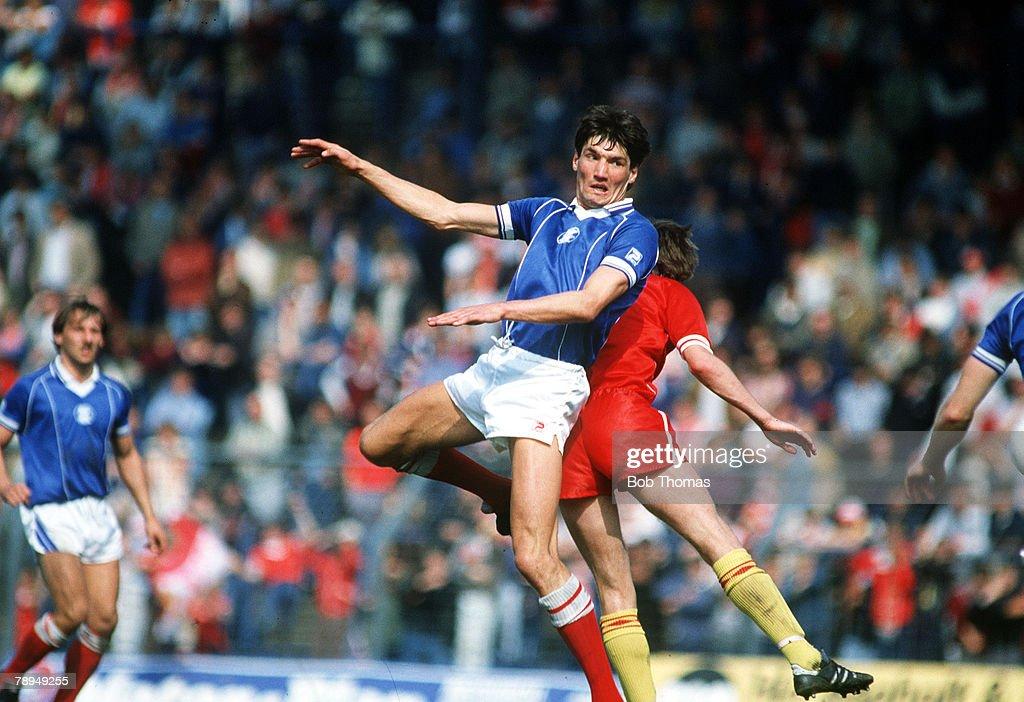 1984 Division 1 Birmingham City 0 v Liverpool 0 Mick Harford Birmingham City