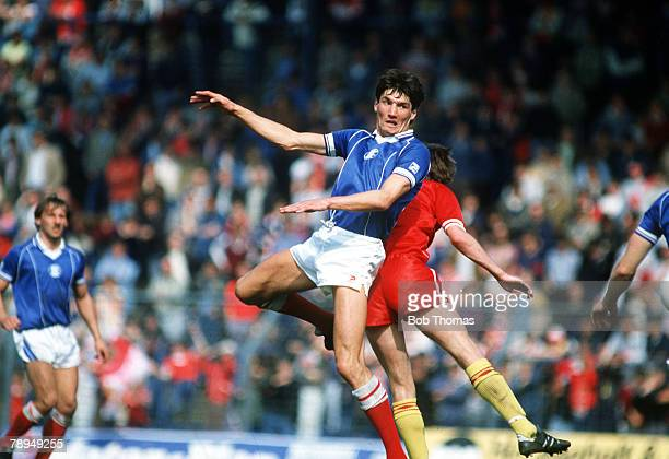 1984 Division 1 Birmingham City 0 v Liverpool 0 Mick Harford Birmingham City