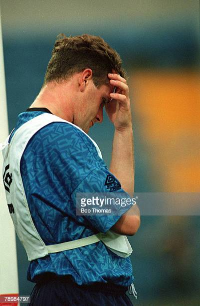 1990's England star Paul Gascoigne deep in thought