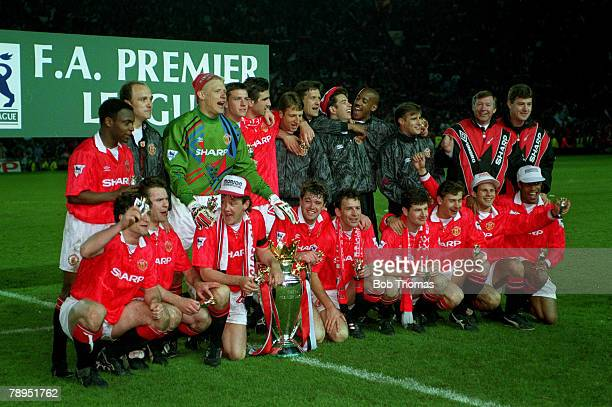 1993 Manchester United Premier League Champions 19921993 Back row left right Paul Parker Mike Phelan Peter Schmeichel Lee Sharpe Eric Cantona Lee...