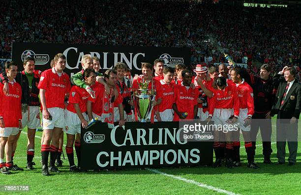 1994 Manchester United FA Carling Premiership Champions 19931994 Players featured include Gary Pallister Bryan Robson Peter Schmeichel Brian McClair...