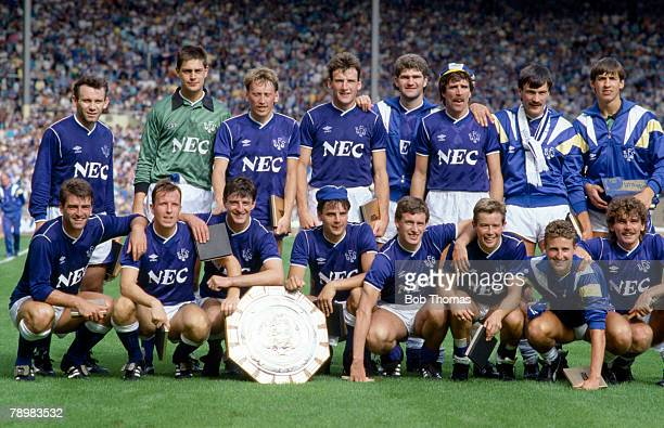 1st August 1987 FA Charity Shield at Wembley Coventry City 0 v Everton 1 Everton 1987 FA Charity Shield winners The players back row leftright Peter...