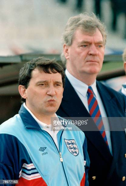 1st May 1991 European Championship in Izmir Turkey 0 v England 1 England Manager Graham Taylor on the touchline with his Assistant Lawrie McMenemy