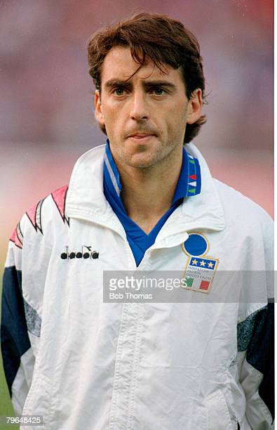 1st May 1993 World Cup Qualifier Switzerland 1 v Italy 0 Roberto Mancini Italy