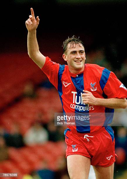 20th December 1992 Crystal Palace 1 v Leeds United 0 Premier League Wimbledon 1 v Norwich City 0 Crystal Palace's Andy Thorn celebrating