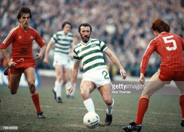 21st April 1984 Scottish Premier Division Celtic v Aberdeen Danny McGrain Celtic full back who won 62 Scotland international caps between 19731982