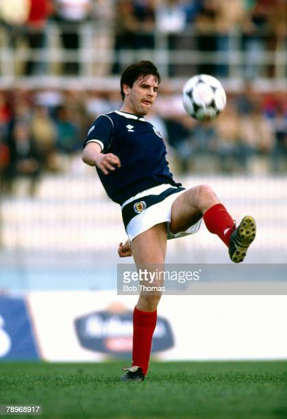22nd March 1988 Friendly International in Valetta Malta 1 v Scotland 1 Graeme Sharp Scotland striker Graeme Sharp Everton striker 19791991 won 12...